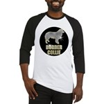 Bling Border Collie Baseball Jersey