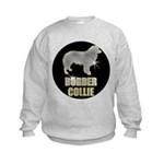 Bling Border Collie Kids Sweatshirt