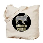Bling Border Collie Tote Bag