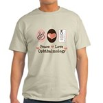 Peace Love Ophthalmology Light T-Shirt
