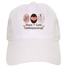 Peace Love Ophthalmology Baseball Cap