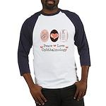 Peace Love Ophthalmology Baseball Jersey