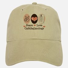 Peace Love Ophthalmology Baseball Baseball Cap