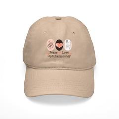 Peace Love Ophthalmology Baseball Cap