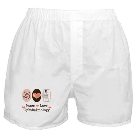 Peace Love Ophthalmology Boxer Shorts