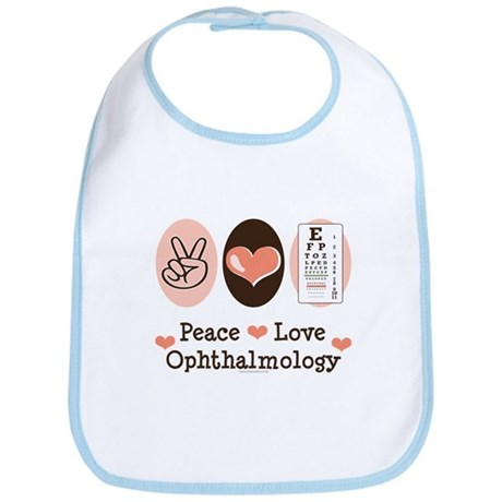 Peace Love Ophthalmology Bib
