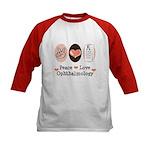 Peace Love Ophthalmology Kids Baseball Jersey