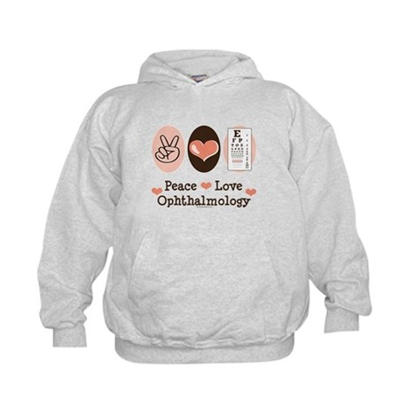 Peace Love Ophthalmology Kids Hoodie