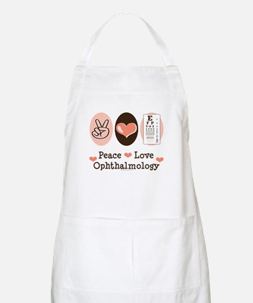 Peace Love Ophthalmology BBQ Apron