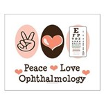 Peace Love Ophthalmology Small Poster