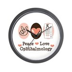 Peace Love Ophthalmology Wall Clock