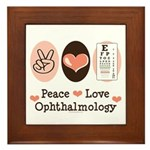 Peace Love Ophthalmology Framed Tile