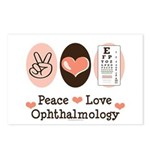 Peace Love Ophthalmology Postcards (Package of 8)