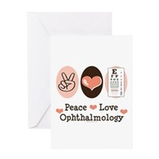 Peace Love Ophthalmology Greeting Card