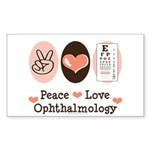 Peace Love Ophthalmology Rectangle Sticker 10 pk)