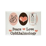 Peace Love Ophthalmology Rectangle Magnet (100 pac