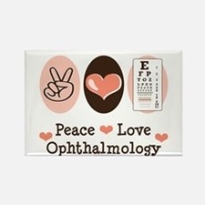 Peace Love Ophthalmology Rectangle Magnet