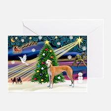 XmasMagic/Greyhound (rd) Greeting Cards (Pk of 10)