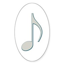 Victorian Notes Oval Decal