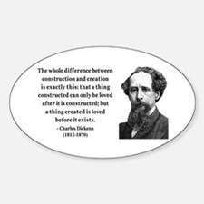 Charles Dickens 21 Oval Decal