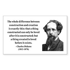 Charles Dickens 21 Rectangle Decal