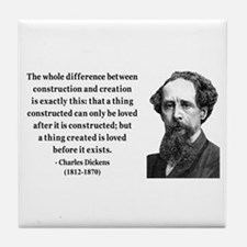 Charles Dickens 21 Tile Coaster
