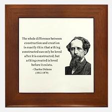 Charles Dickens 21 Framed Tile