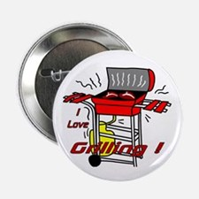 """I love Grilling! 2.25"""" Button (10 pack)"""