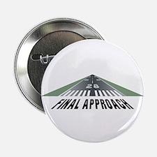 """Aviation Final Approach 2.25"""" Button (10 pack)"""