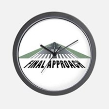 Aviation Final Approach Wall Clock