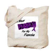 I Wear Purple For My Fiancée 8 Tote Bag