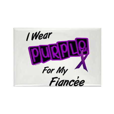 I Wear Purple For My Fiancée 8 Rectangle Magnet