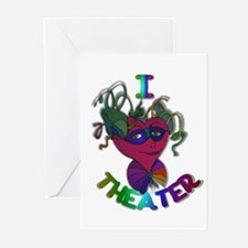 Cute I Love Theater Greeting Cards (Pk of 20)