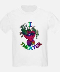 Cute I Love Theater T-Shirt
