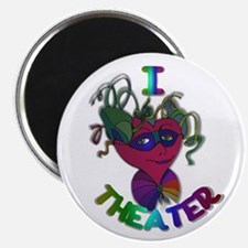 Cute I Love Theater Magnet