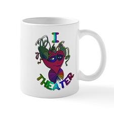 Cute I Love Theater Mug