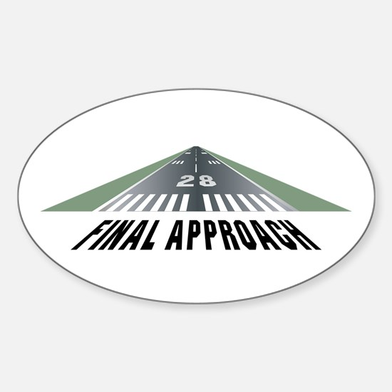 Aviation Final Approach Oval Decal