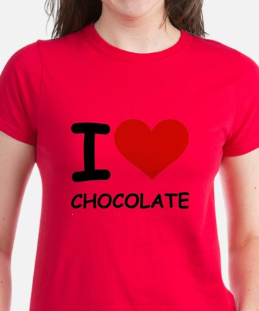 I LOVE CHOCOLATE Women's Dark T-Shirt