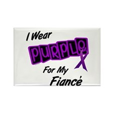 I Wear Purple For My Fiancé 8 Rectangle Magnet