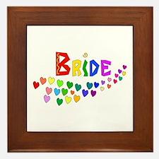 Rainbow Hearts Bride Framed Tile