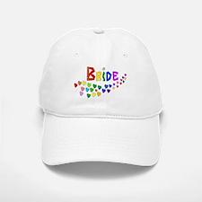 Rainbow Hearts Bride Baseball Baseball Cap