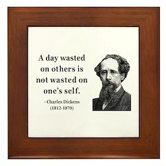 Charles Dickens 20 Framed Tile