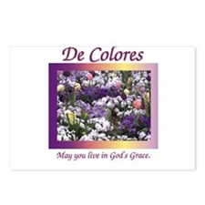 Flower Bed of De Colores Grac Postcards (Package o