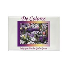 Flower Bed De Colores Grace Rectangle Magnet