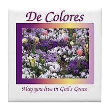 Flower Bed De Colores Grace Tile Coaster