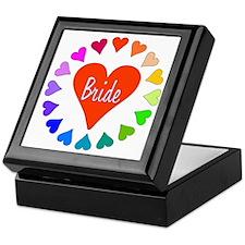 Rainbow Hearts Bride Keepsake Box