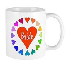 Rainbow Hearts Bride Mug