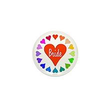 Rainbow Hearts Bride Mini Button (10 pack)