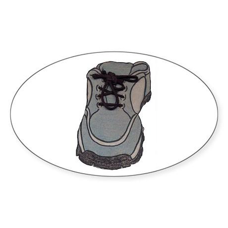 tennis shoe Oval Sticker (10 pk)
