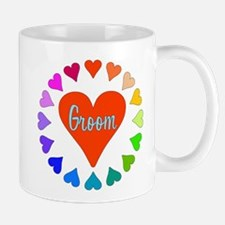 Rainbow Hearts Groom Mug